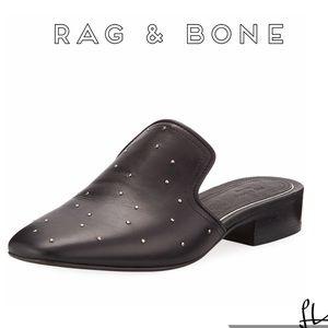 Rag & Bone Studded Leather Mules